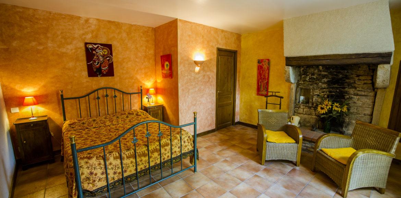 Chambre Jaune « Gite et Chambre d\'hôtes à Chateauneuf-en-Auxois